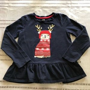 GYMboree Girl shirt Navy blue size 7  100% cotton